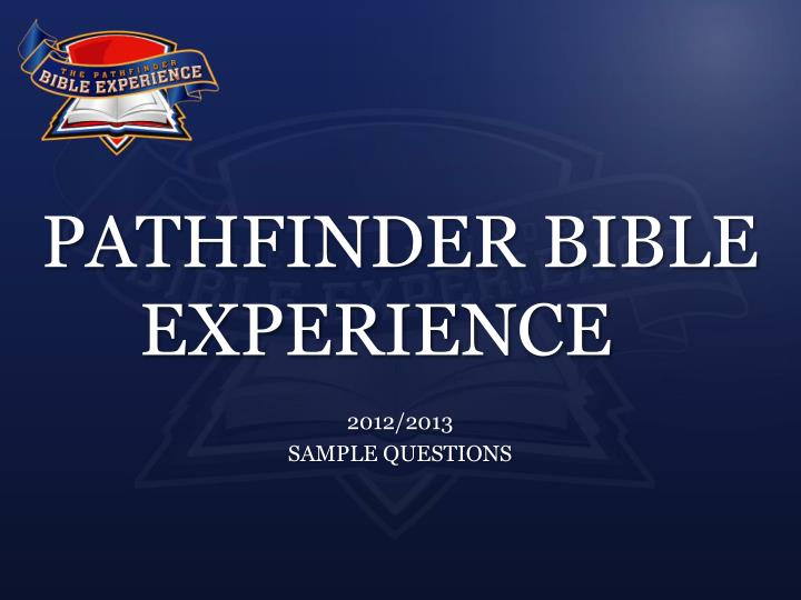 pathfinder bible experience n.