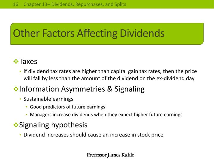 financial factors affect the dividend policy Determinant factors of corporate dividend policy in that factors that affect dividend policy for the factors of size, profitability, financial.