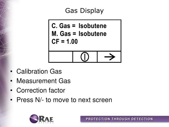 Gas Display
