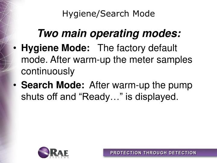 Hygiene/Search Mode