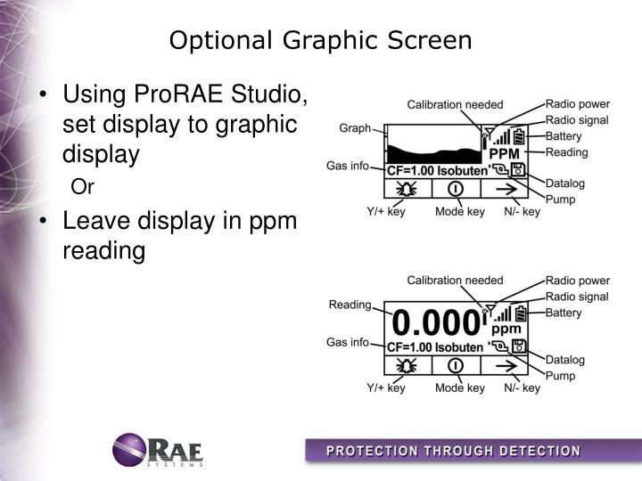 Optional Graphic Screen