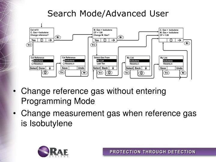 Search Mode/Advanced User