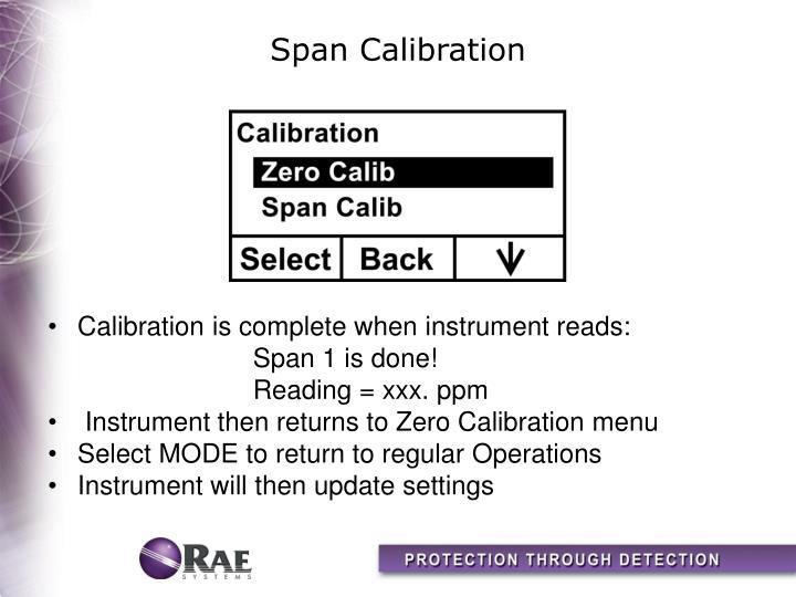 Span Calibration