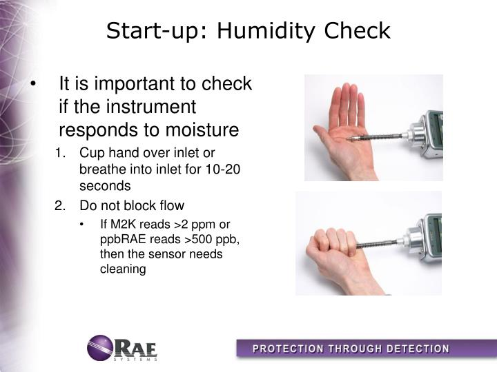 Start-up: Humidity Check