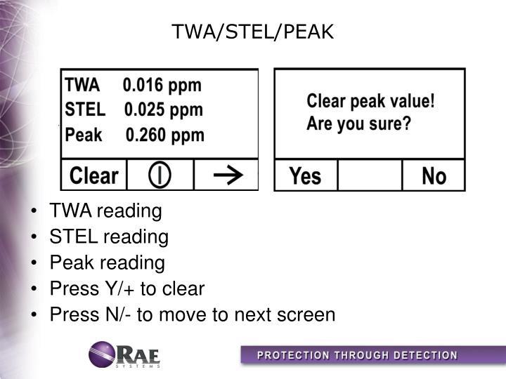 TWA/STEL/PEAK