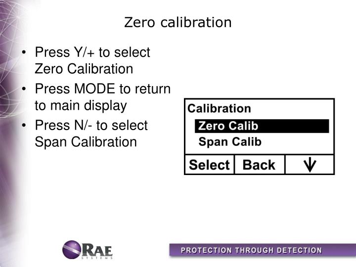 Zero calibration