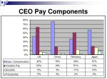 ceo pay components