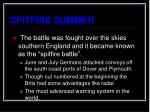 spitfire summer