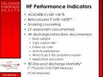 hf performance indicators