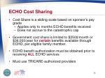 echo cost sharing