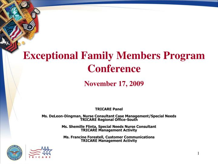 exceptional family members program conference november 17 2009 n.