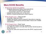 more echo benefits