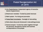 postal reorganization act of 1970