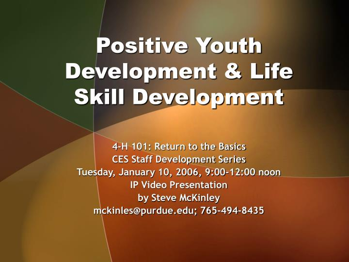 positive youth development life skill development n.