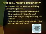 process what s important