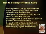 tips to develop effective yap s