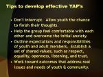 tips to develop effective yap s1