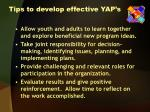 tips to develop effective yap s2