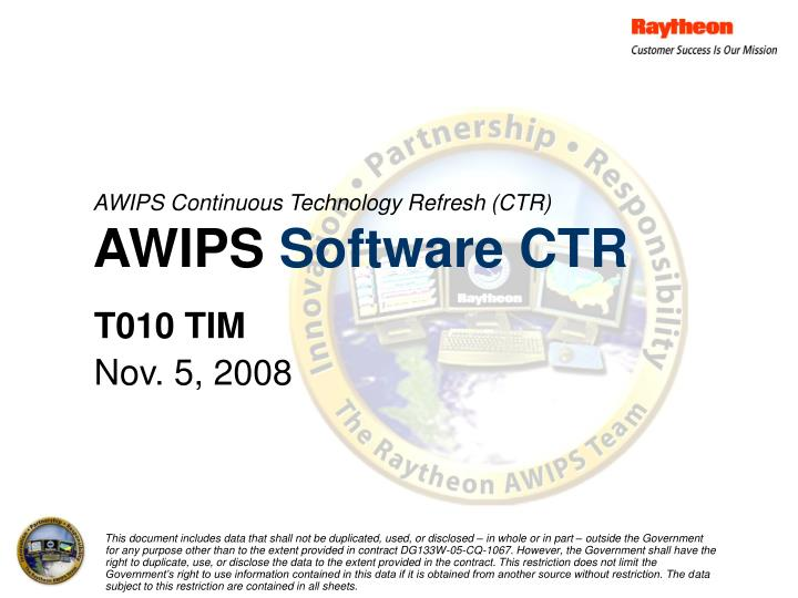awips continuous technology refresh ctr awips software ctr n.