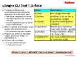 uengine cli tool interface