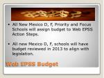 web epss budget