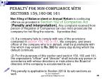 penalty for non compliance with sections 159 160 or 161