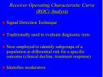 receiver operating characteristic curve roc analysis