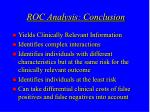 roc analysis conclusion