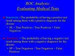 roc analysis evaluating medical tests1