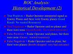 roc analysis historical development 2