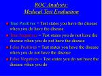 roc analysis medical test evaluation
