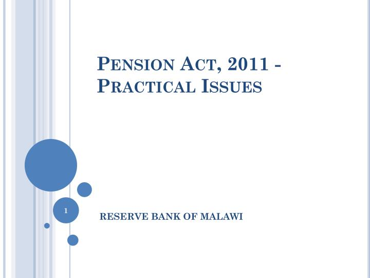 pension act 2011 practical issues n.