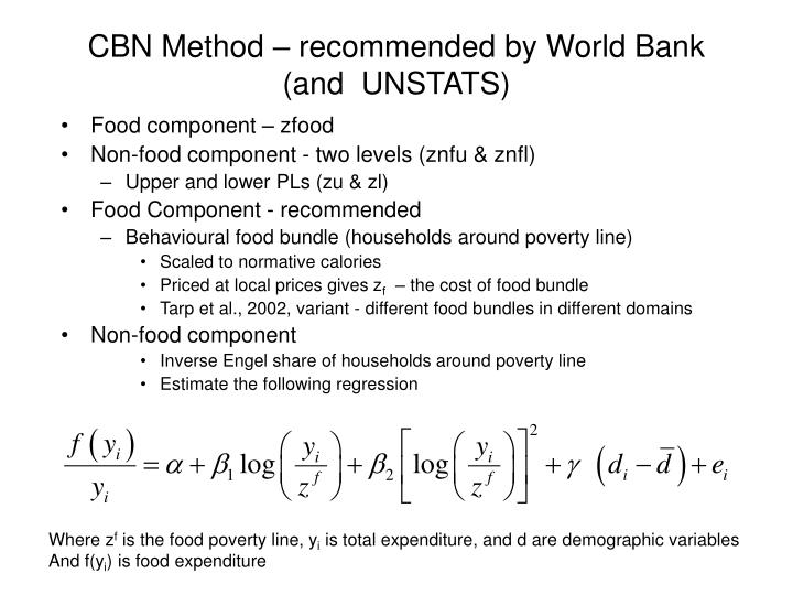 CBN Method – recommended by World Bank