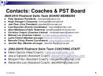 contacts coaches pst board