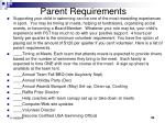 parent requirements
