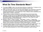 what do time standards mean