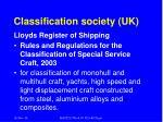 classification society uk