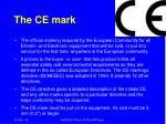 the ce mark
