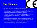the ce mark1