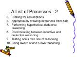 a list of processes 2