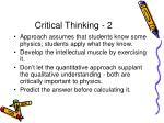 critical thinking 2