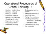 operational procedures of critical thinking 1
