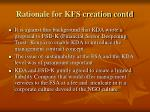 rationale for kfs creation contd2