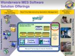 wonderware mes software solution offerings