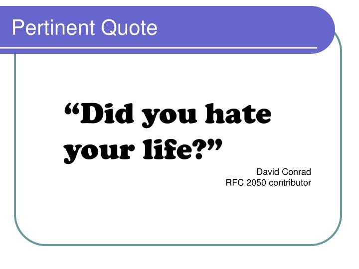 Pertinent Quote