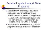 federal legislation and state programs