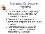 managing conservation programs