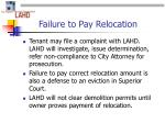 failure to pay relocation