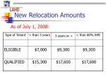 new relocation amounts