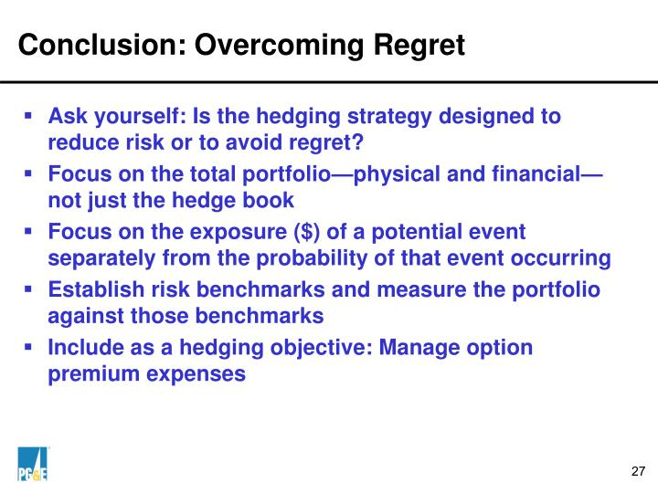 Conclusion: Overcoming Regret